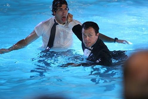 Casey and Chuck Swim