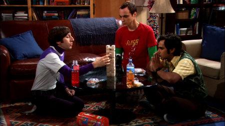 Sheldon, Raj and Wolowitz Play Jenga