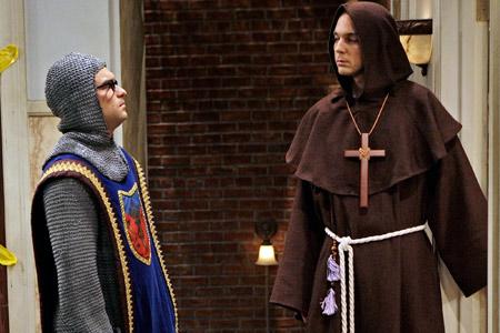 Leonard and Sheldon in Garb