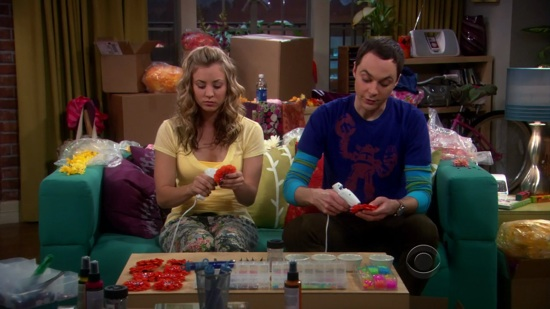 Sheldon and Penny Make Berets