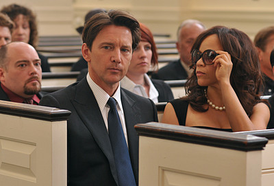 Joe and Dahlia at the Funeral