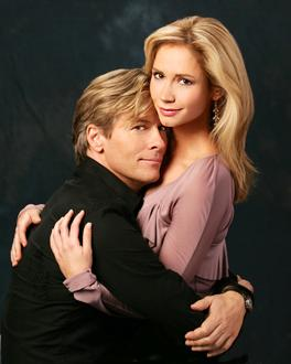 Jack Wagner and Ashley Jones