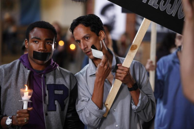 Abed and Troy at the Vigil