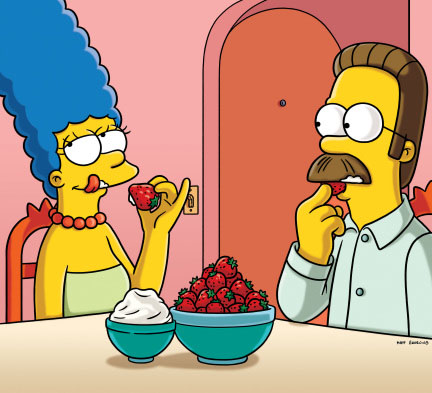 Marge and Ned Share Fruit