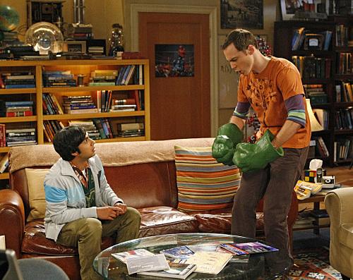 Sheldon and His Hulk Hands