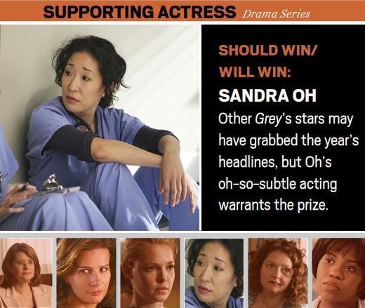 Sandra Oh: The Critics' Choice