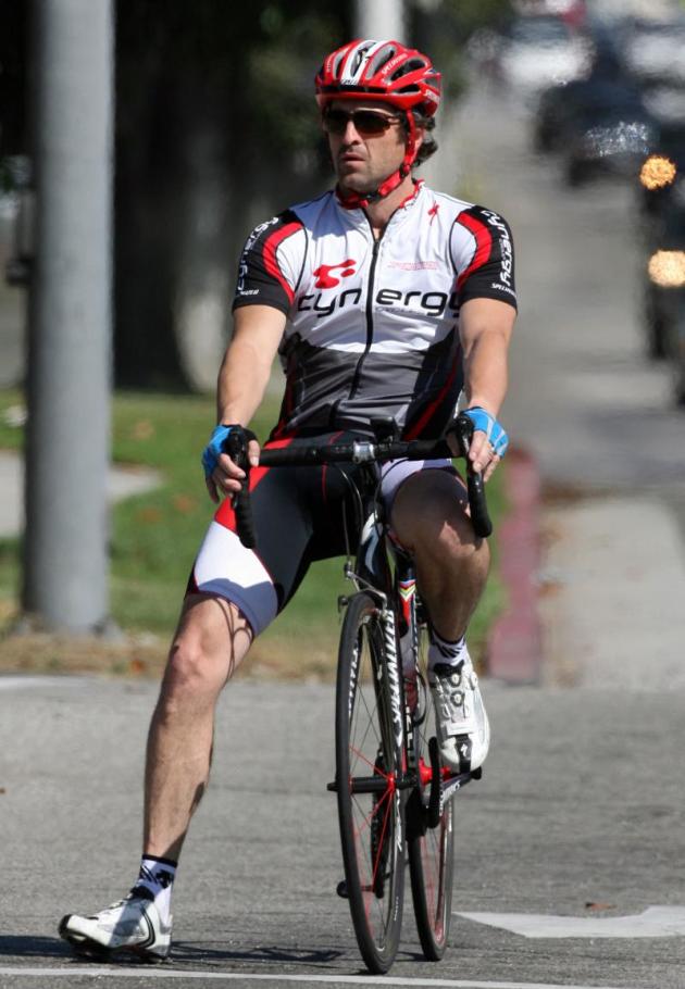Patrick Dempsey Rides His Bike
