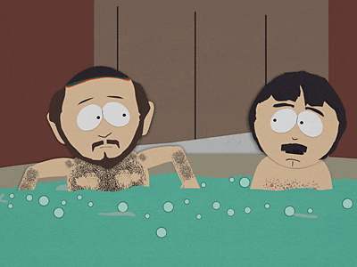 Two Guys Naked in a Hot Tub Picture