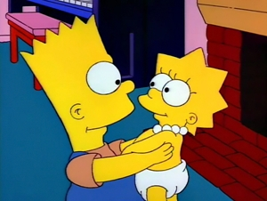 Bart and Baby Lisa