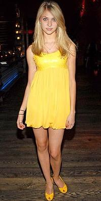 Taylor Momsen in Yellow