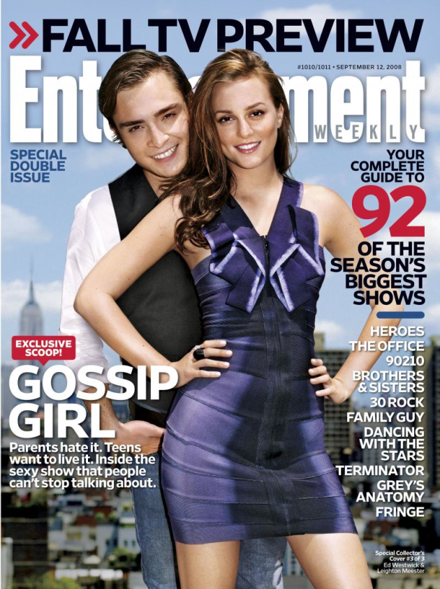 Leighton Meester, Ed Westwick EW Cover