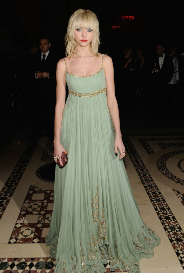 Glowing in a Green Gown