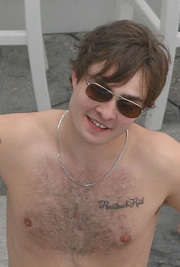 Ed Westwick Shirtless