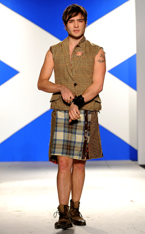 Ed Westwick Kilt Photo
