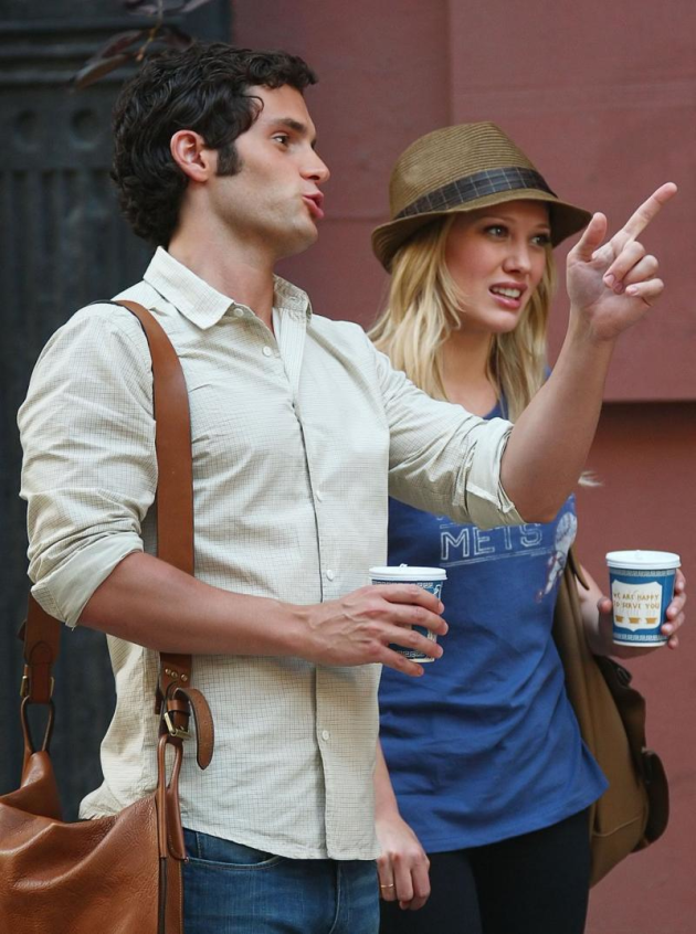 Hilary Duff and Penn Badgley
