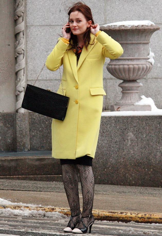 Leighton Meester in Yellow