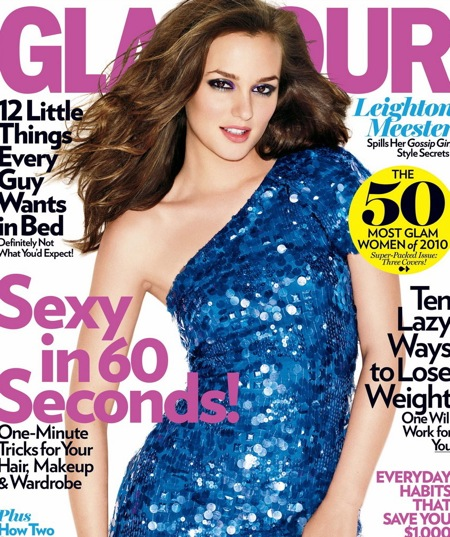 Leighton Meester Glamour Cover