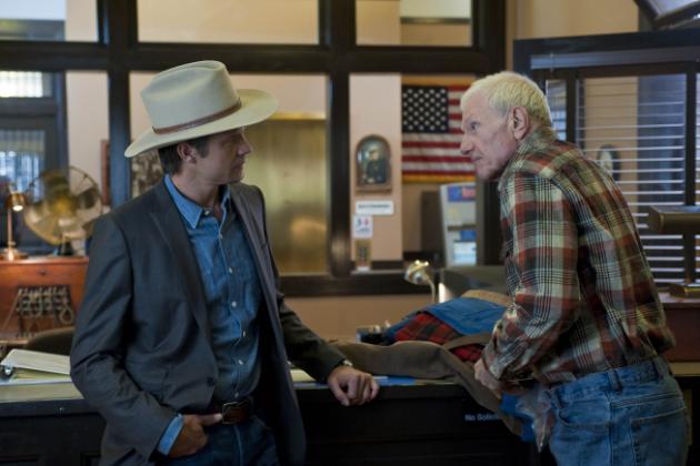 Raylan and Arlo Givens At The Police Station