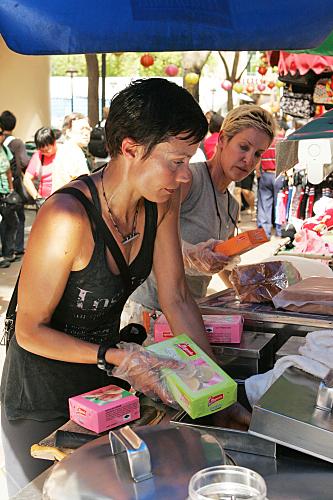 Carol and Brandi Sell Ice Cream