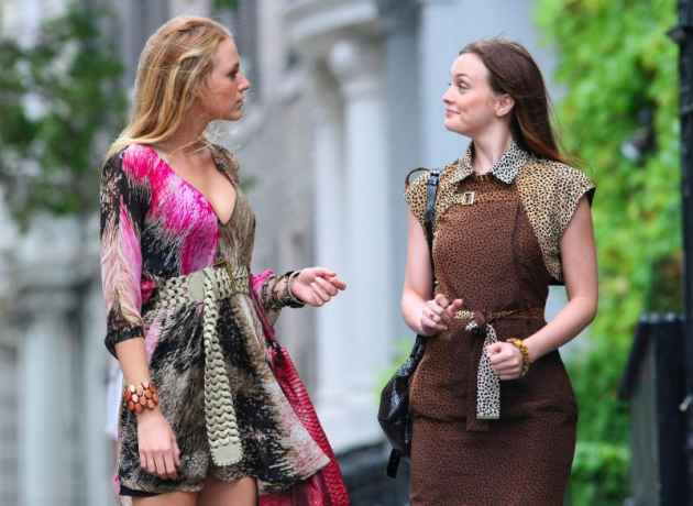 Blake and Leighton on Set in NYC