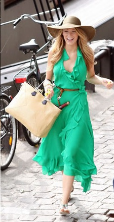 A Lively Green Dress
