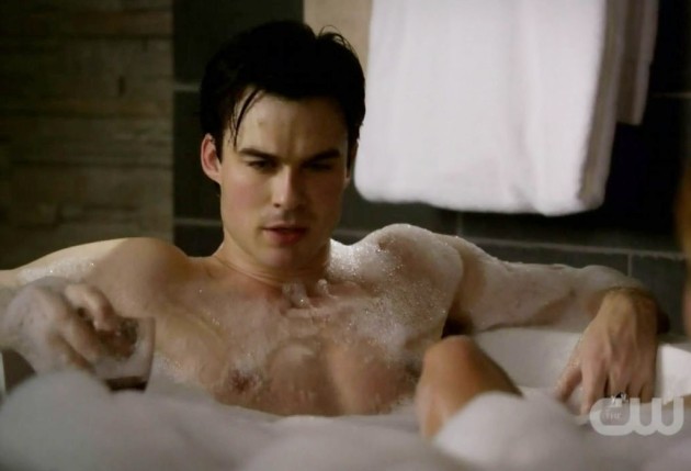 Damon in a Bathtub!