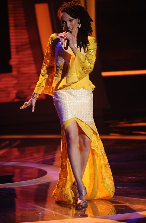 Naima Adedapo During the Semifinals