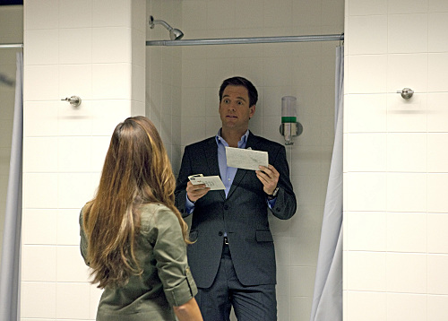 Tony and Ziva in the Bathroom