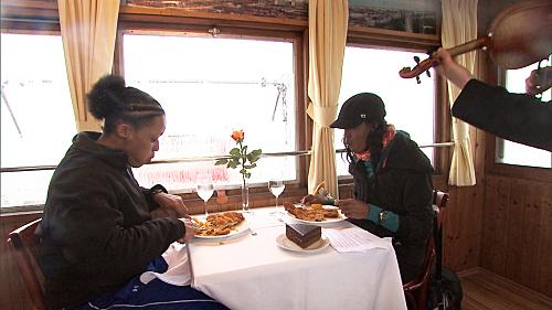 Kisha and Jen Scarf Food