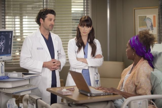 Lexie, Derek and Patient
