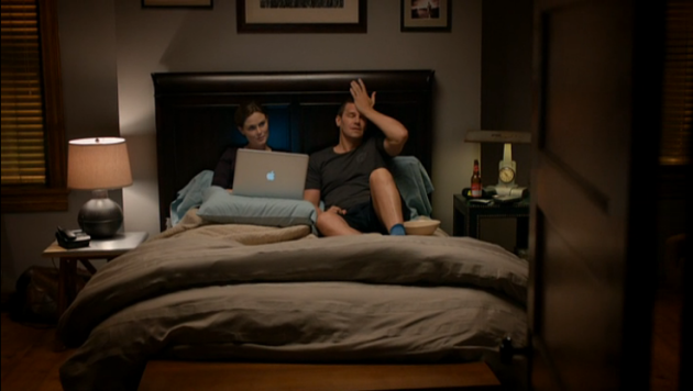 Booth and Brennan in Bed