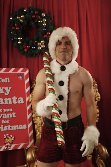 Schmidt as Santa