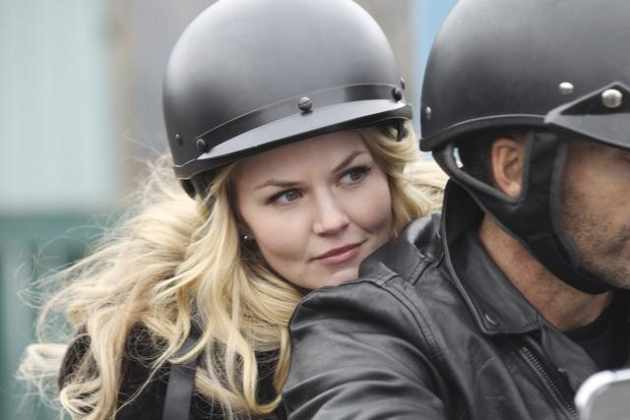 Emma on a Motorcycle