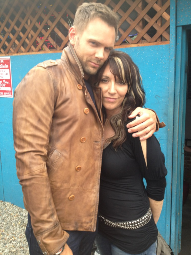 Joel McHale and Katey Segal