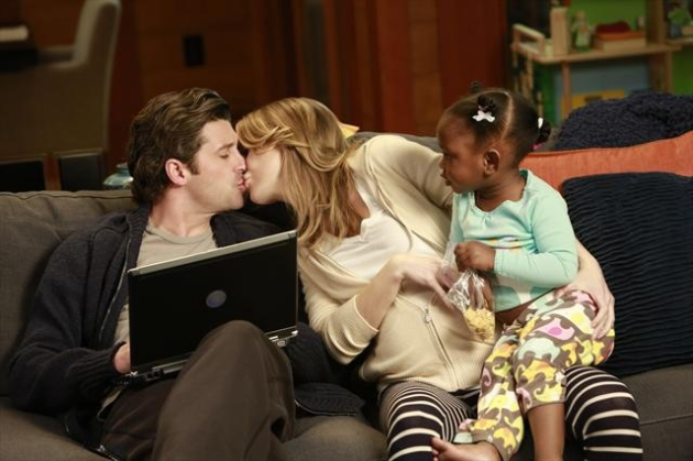 Derek, Meredith and Zola