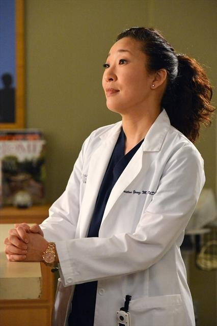 Yang Smiles on Grey's