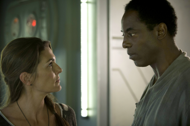 Paige Turco and Isaiah Washington