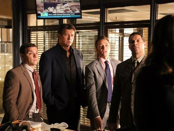 Joshua Bitton, Nathan Fillion, Seamus Dever, Jon Huertas Photo - TV