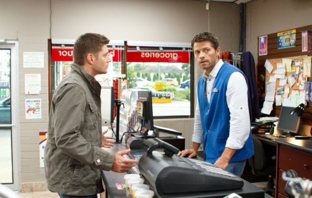 Castiel at the Gas-N-Save