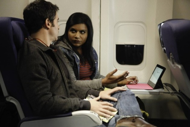 Mindy on a Plane