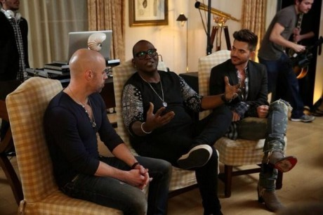 Randy Jackson, Chris Daughtry, and Adam Lambert