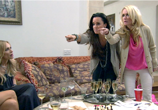 Kim and Kyle Richards vs. Brandi Glanville