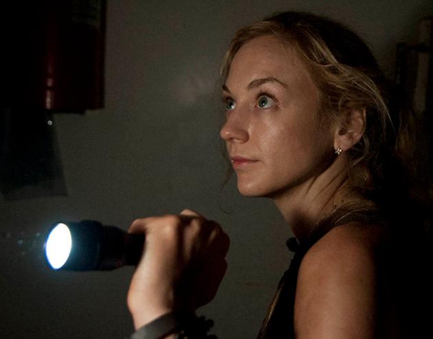 Beth with a Flashlight