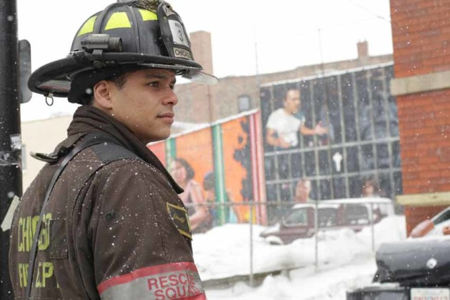 Chicago Fire in the Snow