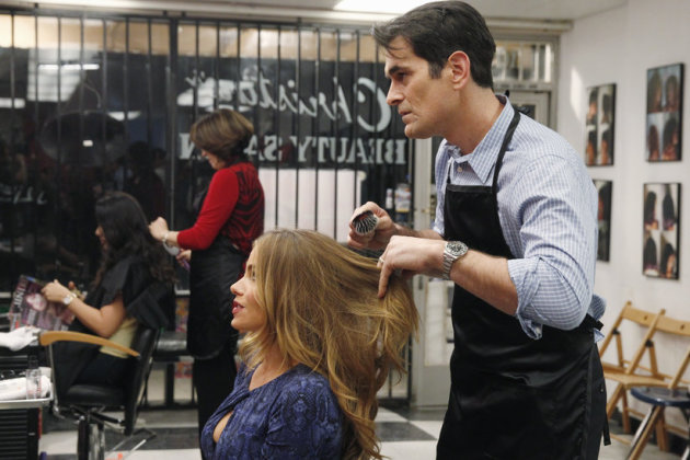 Phil as a Hairdresser