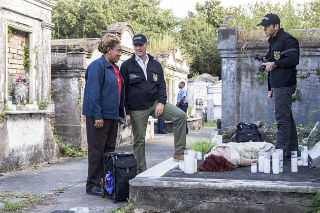 NCIS New Orleans Cemetery Body