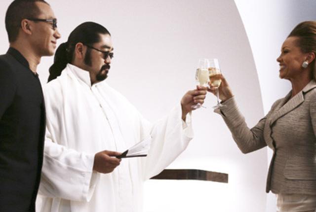 Wilhelmina toasts oshi