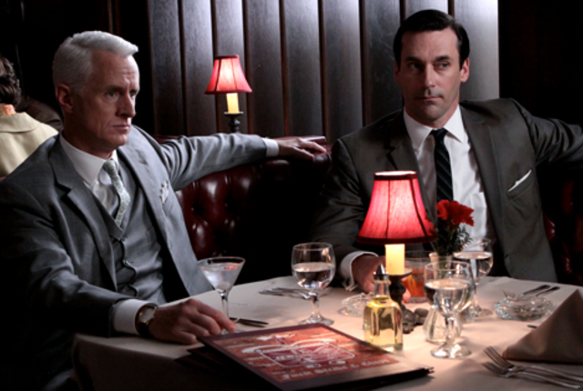 Don draper and roger sterling