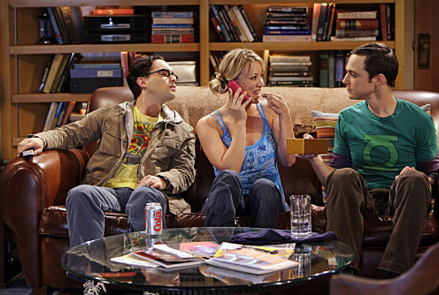 Sheldon uses positive reinforcement