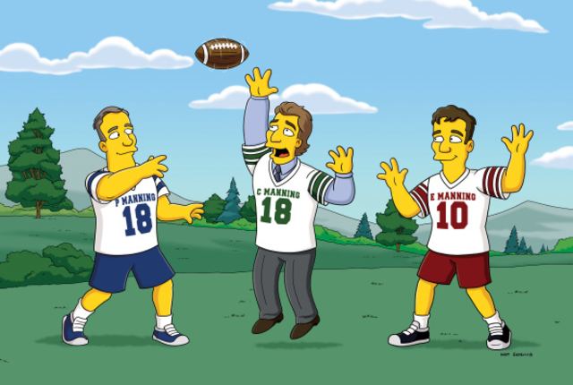 Cooper eli and peyton manning on simpsons